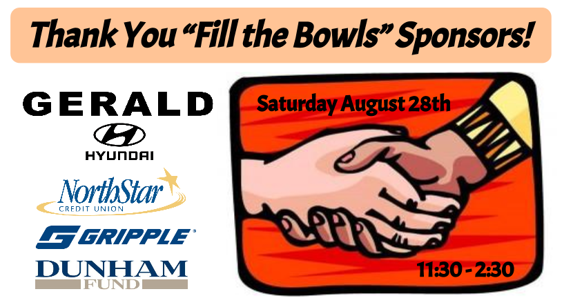 """""""Fill the Bowls"""" Sponsor Shout-Out!"""
