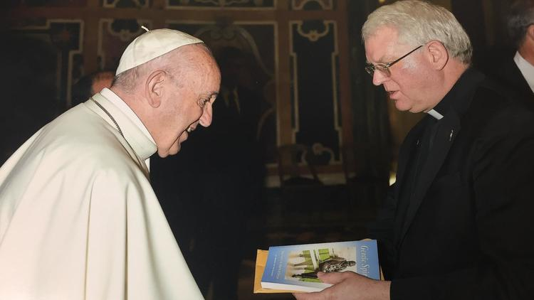 "Pope Francis receives ""Gentle Spirit, Memoirs by Marie Wilkinson"""