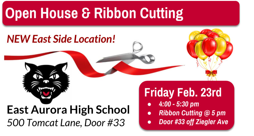 Open House & Ribbon Cutting! Feb 23, East High