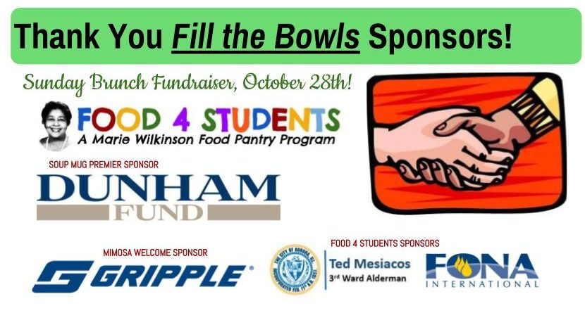 Thank You Sponsors! Fill the Bowls Fundraiser